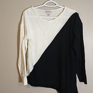 Dressbarn asymmetrical sweater
